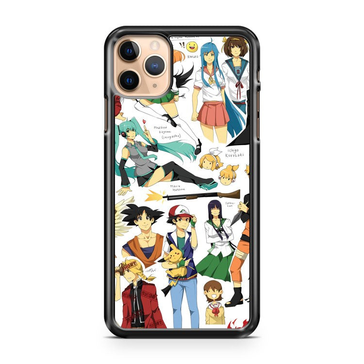 Anime Collage iPhone 11 Pro Max Case Cover | CaseSupplyUSA