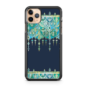 Art Deco Double Drop in Blues and Greens iPhone 11 Pro Max Case Cover | CaseSupplyUSA