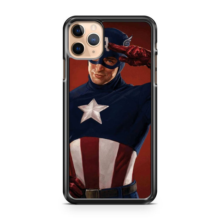 Cap Salutes You Captain America iPhone 11 Pro Max Case Cover | CaseSupplyUSA