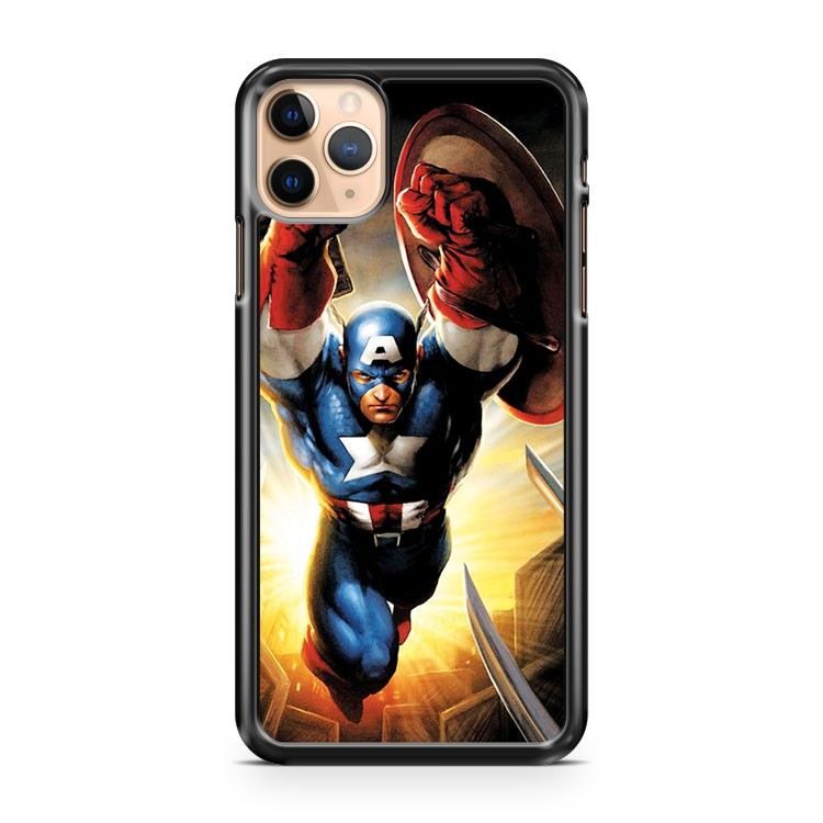 Captain America in Action 2 iPhone 11 Pro Max Case Cover | CaseSupplyUSA