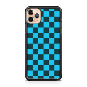 Checkered Blue And Black Pattern iPhone 11 Pro Max Case Cover | CaseSupplyUSA