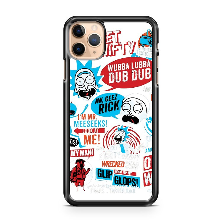 Morty and Rick White iPhone 11 Pro Max Case Cover