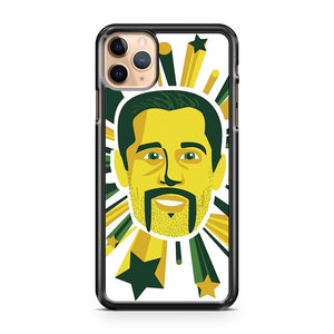 Mustachioed Aaron Rodgers iPhone 11 Pro Max Case Cover
