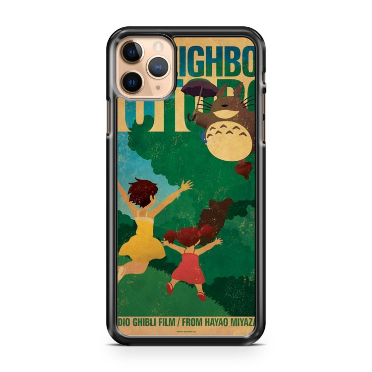 My Neighbor Totoro Retro Poster iPhone 11 Pro Max Case Cover