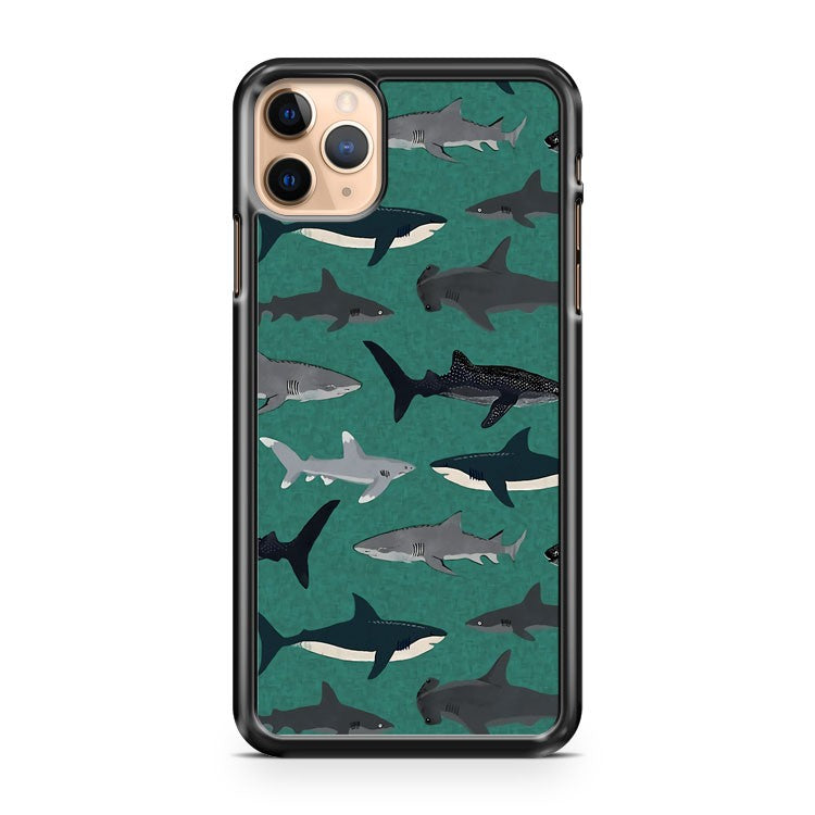Sharks illustration art iPhone 11 Pro Max Case Cover