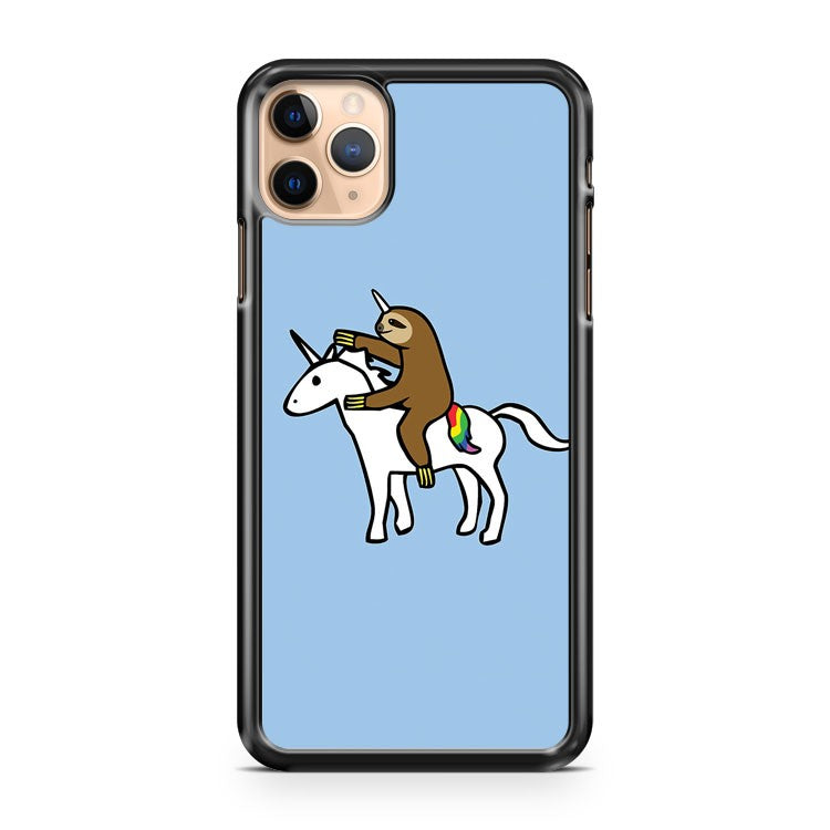 Slothicorn Riding Unicorn iPhone 11 Pro Max Case Cover