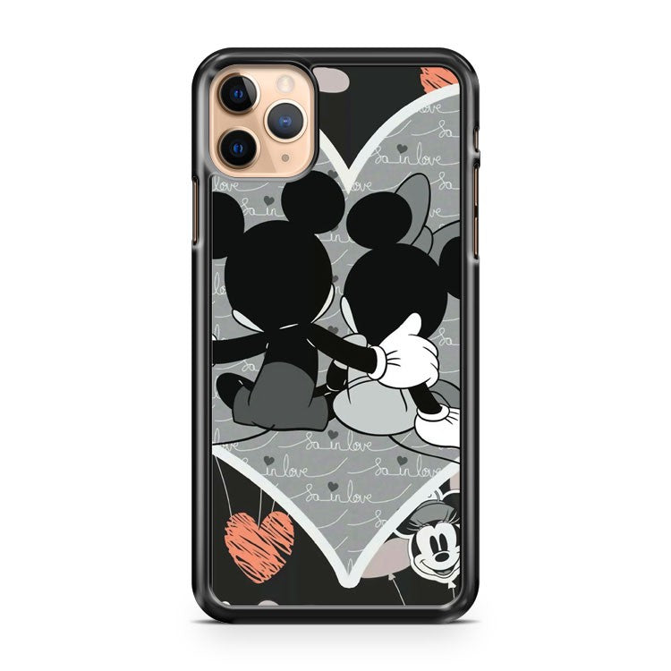 Romantic Disney Mickey And Minnie Mouse iPhone 11 Pro Max Case Cover