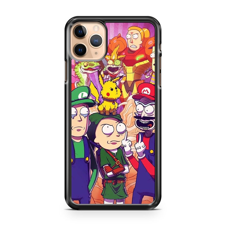 Rick And Morty in Pokemon iPhone 11 Pro Max Case Cover