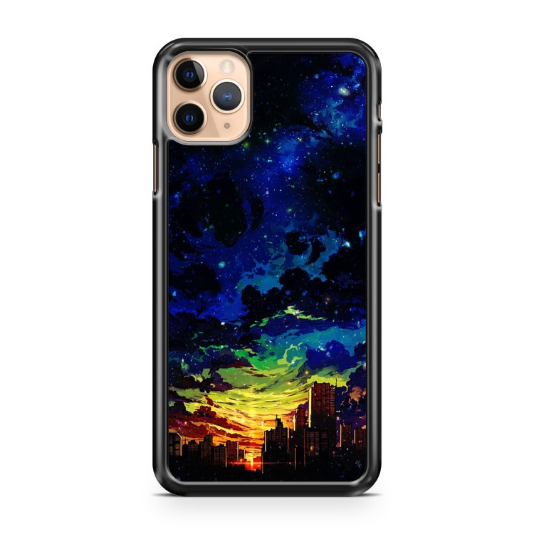 Abstract Anime City Sunrise Cloud Sky iPhone 11 Pro Max Case Cover | CaseSupplyUSA