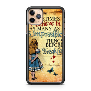 Alice in Wonderland Bonkers Quote Mad iPhone 11 Pro Max Case Cover | CaseSupplyUSA