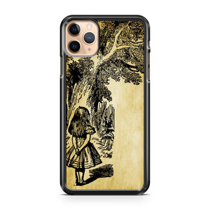 Alice in wonderland clip art mad hatter cat iPhone 11 Pro Max Case Cover | CaseSupplyUSA
