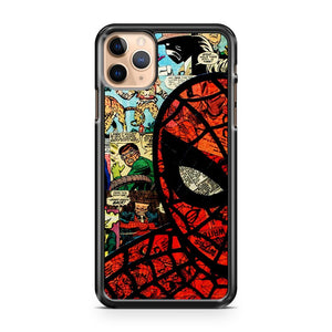 CARTOON COLLAGE SPIDERMAN BLACK iPhone 11 Pro Max Case Cover | CaseSupplyUSA