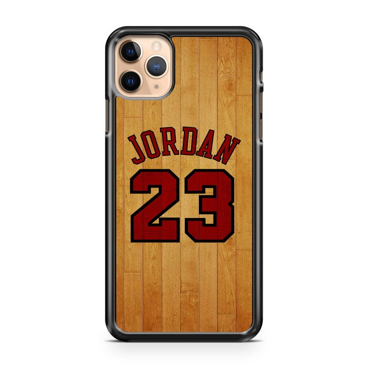 Michael Jordan on Wood Number 23 Basketball 2 iPhone 11 Pro Max Case Cover