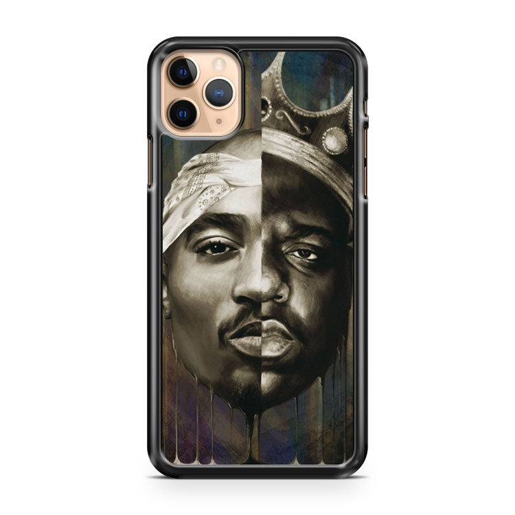 NEW BIGGIE TUPAC FACE RAP HIP HOP iPhone 11 Pro Max Case Cover