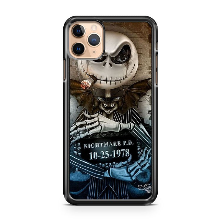 Nightmare Before Christmas Jack Mugshot iPhone 11 Pro Max Case Cover