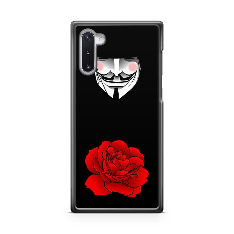 ANONYMOUS V VENDETTA MASK v for vendetta rose Samsung Galaxy Note 10 Case Cover | CaseSupplyUSA