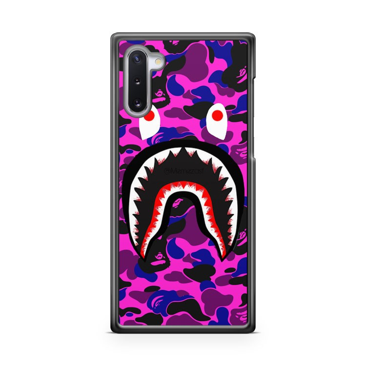 BAPE Lil Uzi Vert Camo Shark Mouth BATHING APE Samsung Galaxy Note 10 Case Cover | CaseSupplyUSA