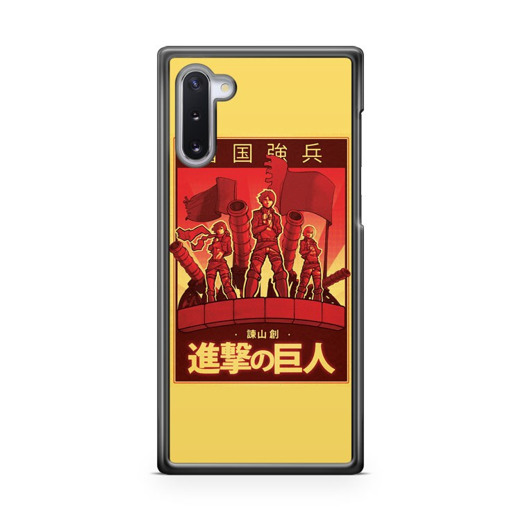 Attack On Titan Propaganda Poster Samsung Galaxy Note 10 Case Cover | CaseSupplyUSA