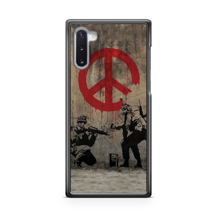 Banksy Soldiers Painting Peace Samsung Galaxy Note 10 Case Cover | CaseSupplyUSA