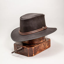Load image into Gallery viewer, Midnight Rider Leather Hat