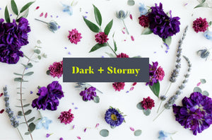 Dark and stormy color vibes, Fargo ND floral delivery