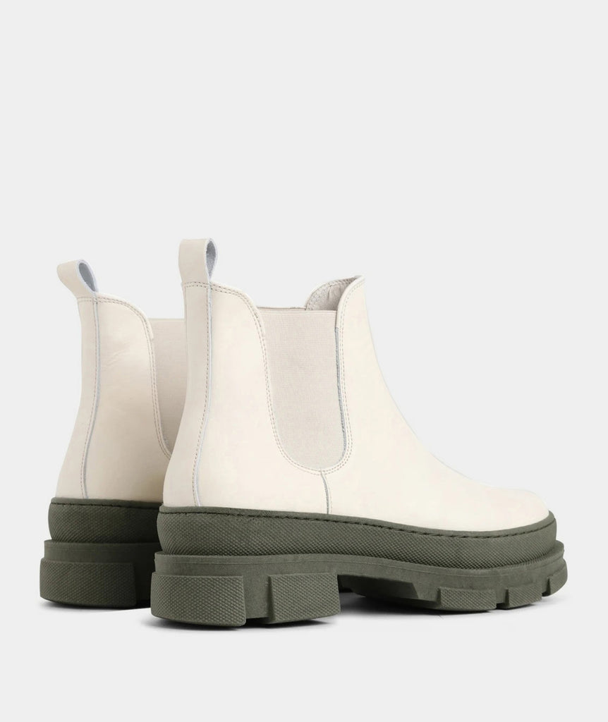GARMENT PROJECT WMNS Irean Chelsea - Off White / Army Boots 110 Off White