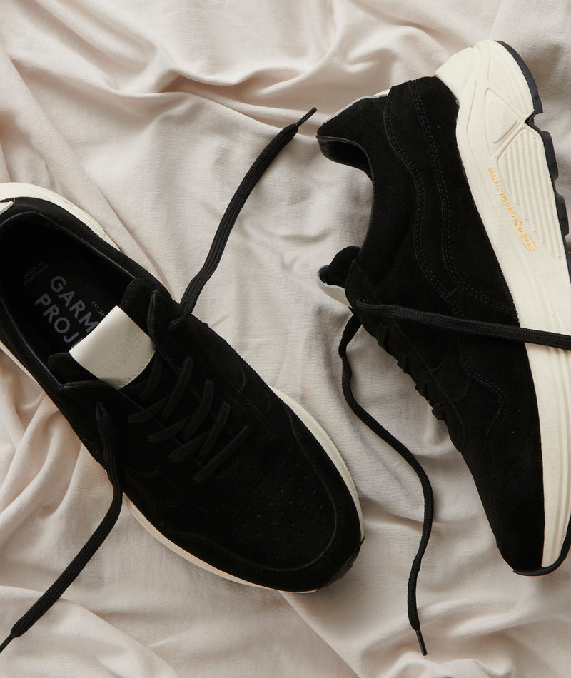 Bailey Runner - Black Suede / Off White