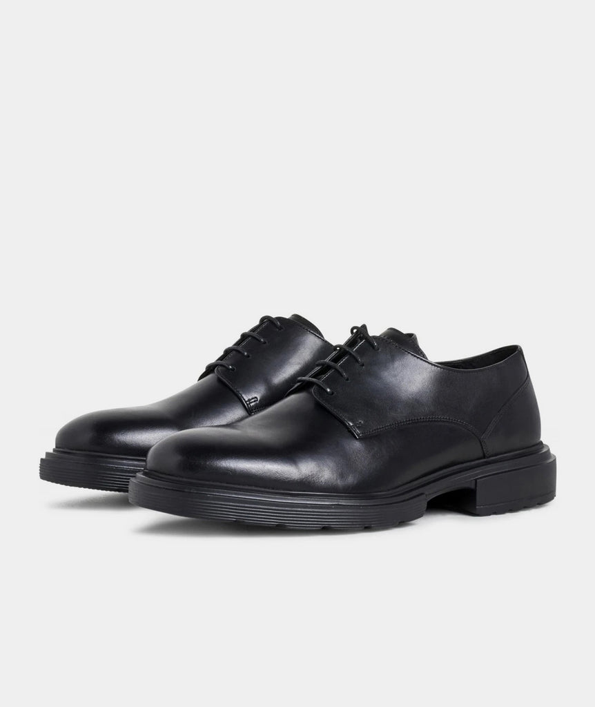 GARMENT PROJECT MAN Derby - Black Leather Shoes 999 Black
