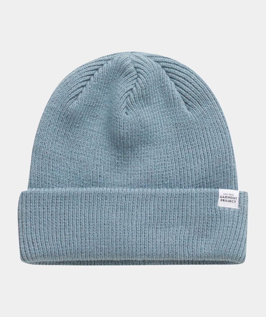 GARMENT PROJECT MAN GP Logo Unisex Beanie - Dusty Blue Beanie 112 Dusty Blue