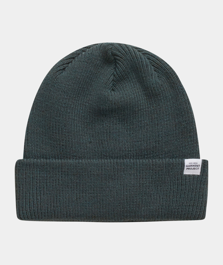 GARMENT PROJECT MAN GP Logo Unisex Beanie - Petroleum Green Beanie 250 Petroleum
