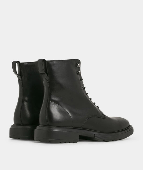 Mili Lace Boot - Black Leather