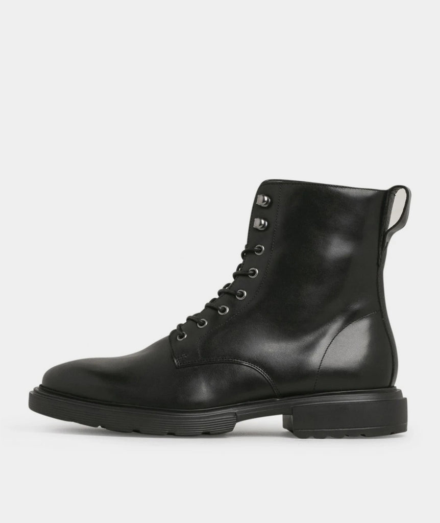 GARMENT PROJECT MAN Mili Lace Boot - Black Leather Boots 999 Black