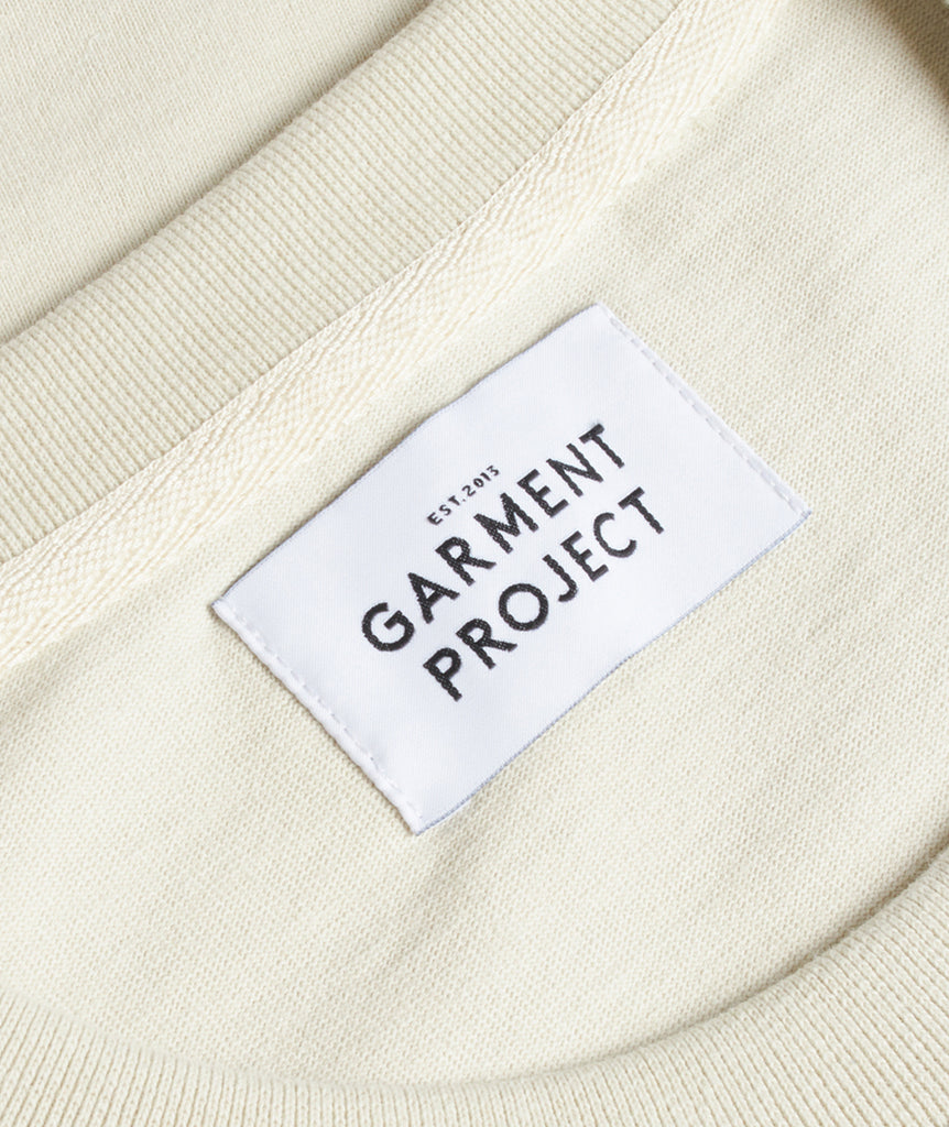 GARMENT PROJECT MAN L/S OverSize Tee - Bone White LS T-shirt 111 Bone White