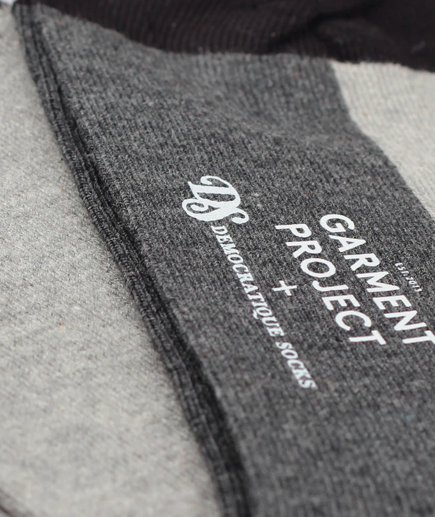 GARMENT PROJECT MAN Socks - Black GP X DEMOCRATIQUE SOCKS 999 Black