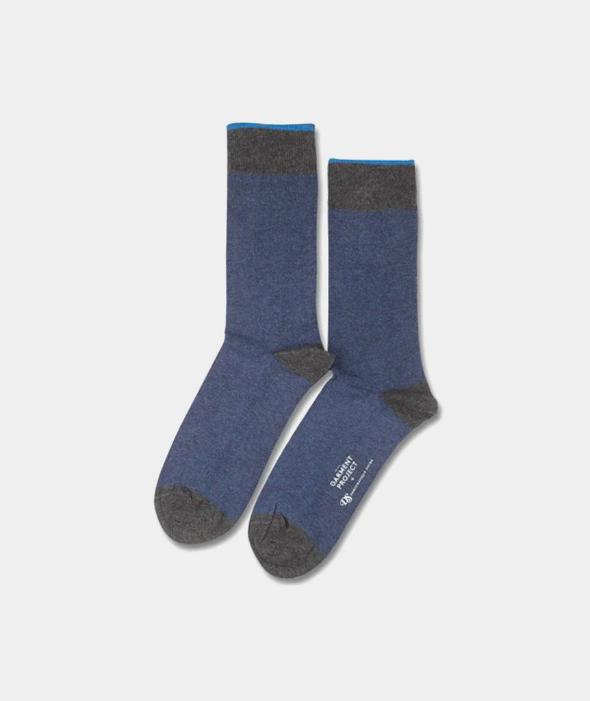 GARMENT PROJECT MAN Socks - Blue GP X DEMOCRATIQUE SOCKS 550 Blue