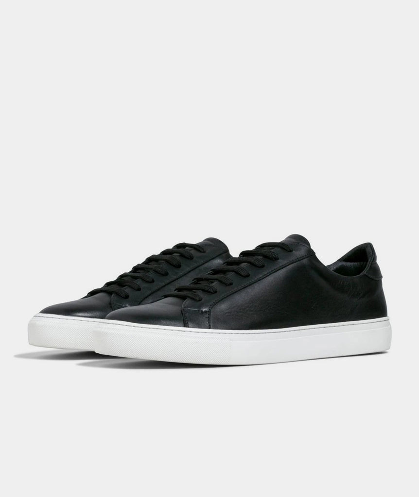 GARMENT PROJECT MAN Type - Black Leather Sneakers 999 Black