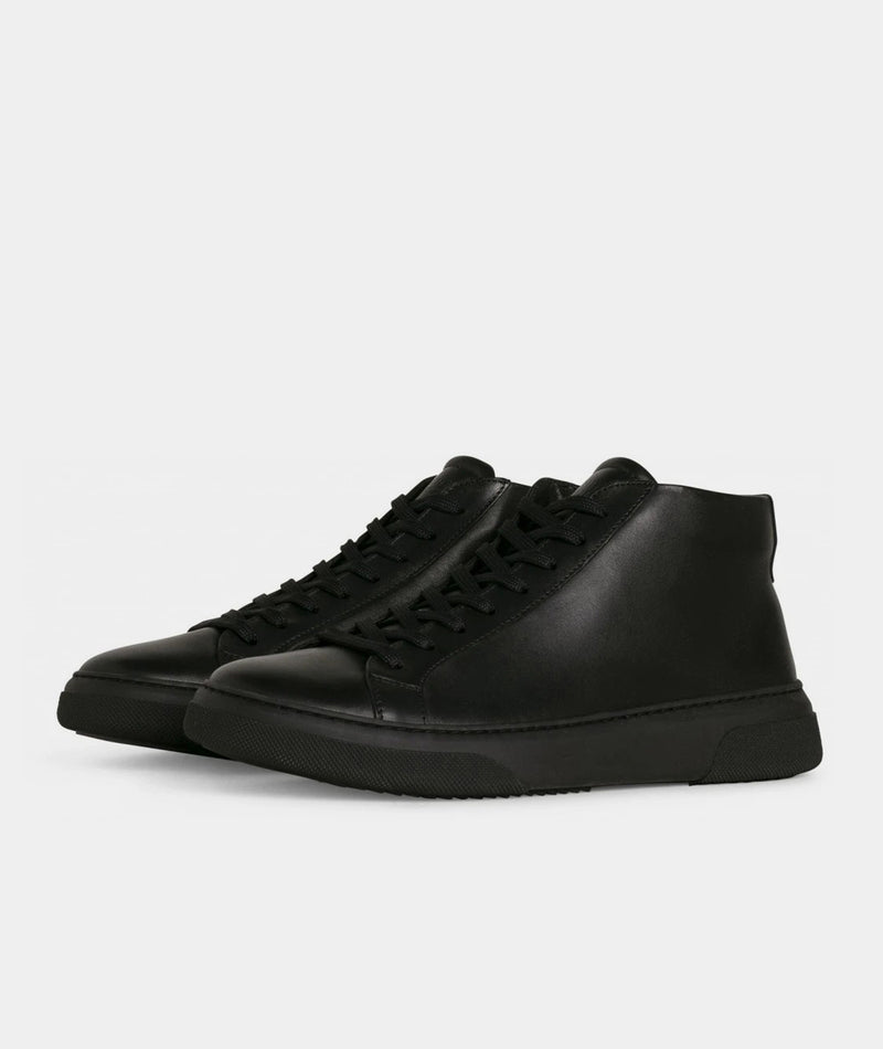 Type Mid - Black Leather