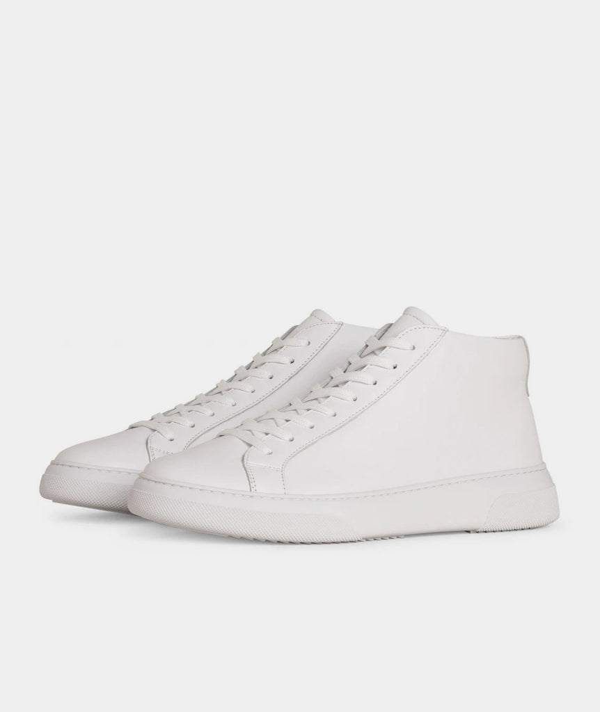 GARMENT PROJECT MAN Type Mid - White Leather Mid Cut 100 White
