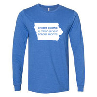 "Long Sleeve T-Shirt ""People"" (Heather True Royal)"