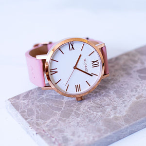 Monogrammed Blush & Rose Gold