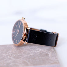 Load image into Gallery viewer, Monogrammed Black & Rose Gold