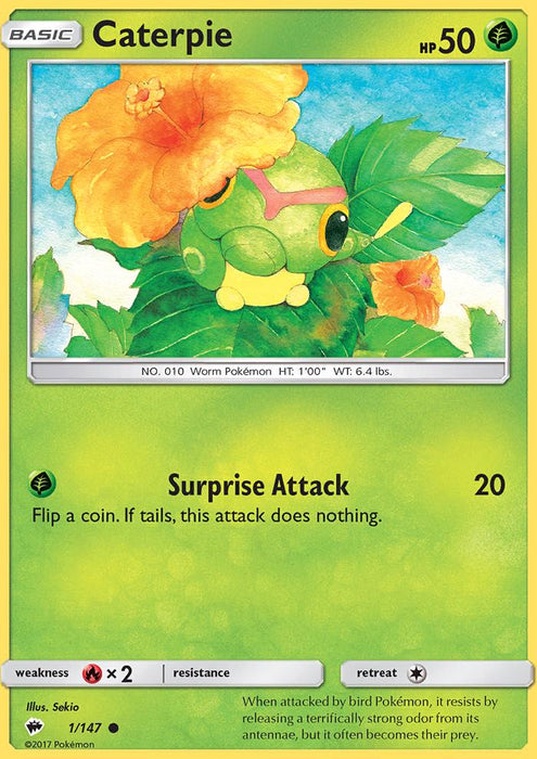 Caterpie - 1/147 - Reverse Holo