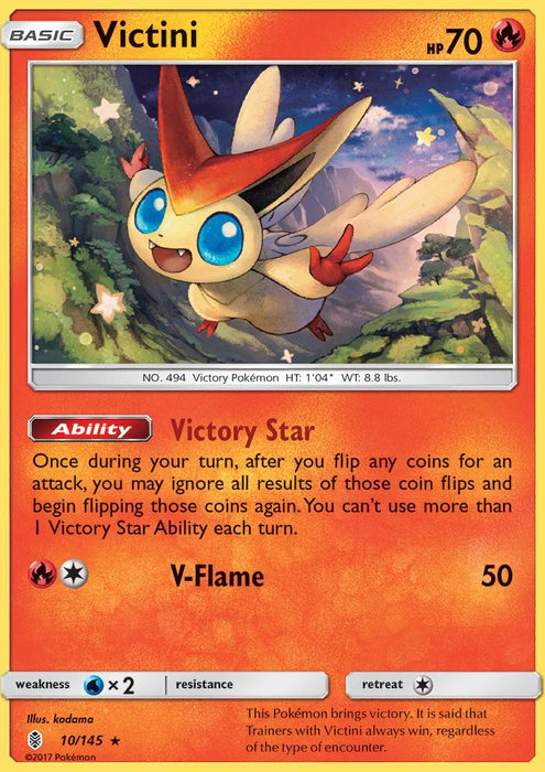 Guardians Rising Victini - 10/145 - Reverse Holo