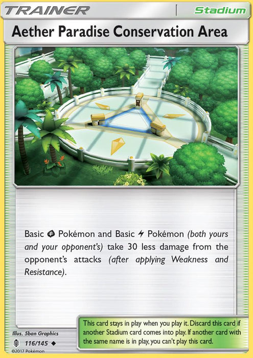 Guardians Rising Aether Paradise Conservation Area - 116/145 - Reverse Holo