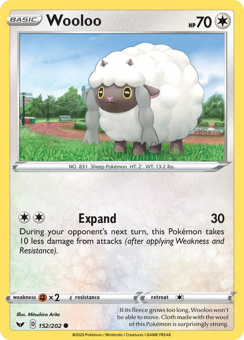Sword & Shield Wooloo - 152/202