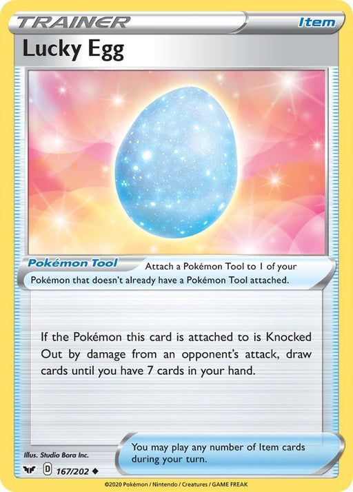 Sword & Shield Lucky Egg - 167/202 - Reverse Holo