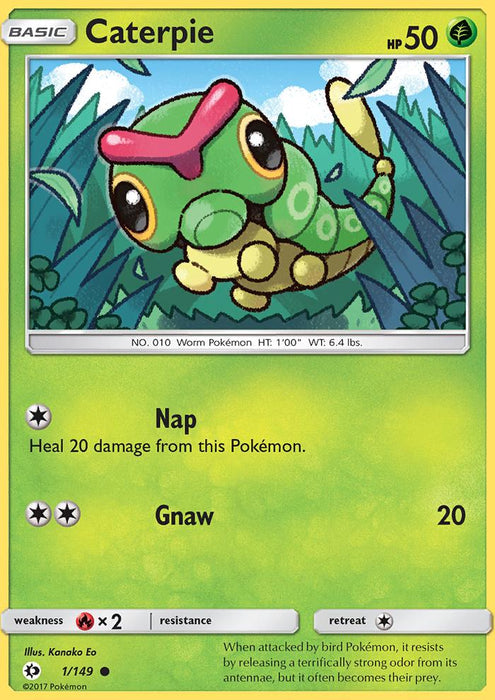 Sun & Moon Caterpie - 1/149