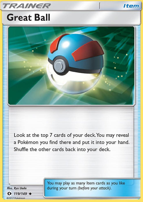 Sun & Moon Great Ball - 119/149 - Reverse Holo