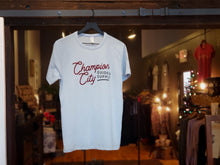 Load image into Gallery viewer, Sky Blue Tee : New Edition Champ City Script