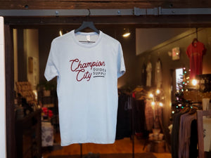 Sky Blue Tee : New Edition Champ City Script